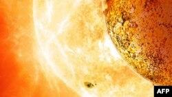 Планета, відома як Kepler-78b, обертається навколо зірки, трохи меншої за наше Сонце (зображення NASA)