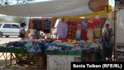 Торговая палатка в Жанаозене.