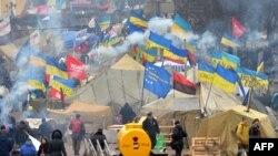 Революция достоинства. Киев, Майдан Независимости, 20 декабря 2013 года