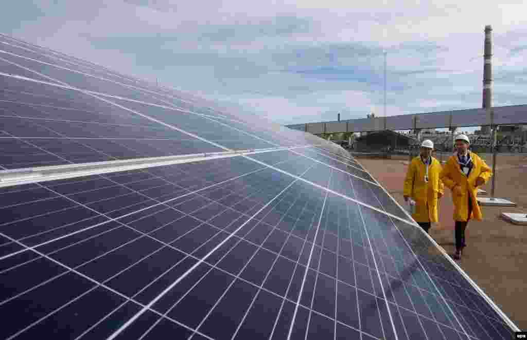 Першу сонячну електростанцію «Солар Чорнобиль-1 МВт» відкрито в Чорнобилі, 5 жовтня 2018 року