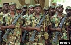 Сенегальские солдаты в Гамбии. Январь 2017 года