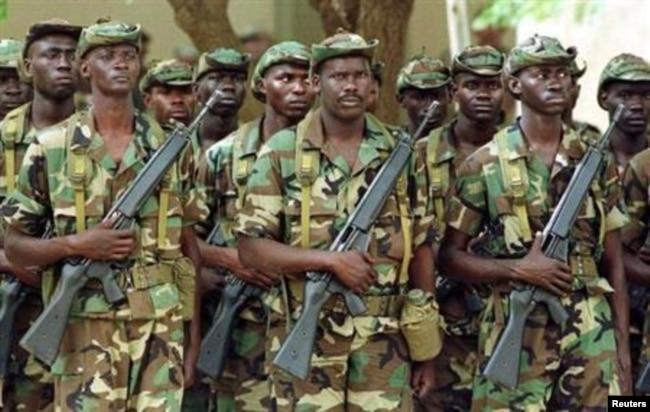 Военнослужащие армии Сенегала в Гамбии. 2019 год