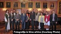 Na prijemu predstavnika diplomatskih tjela arapskih zemalja u Austriji (krajnje lijevo)