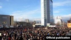 Protesta e 9 janarit e opozitës në Prishtinë.