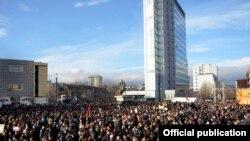 Protesta e 9 janarit në Prishtinë.