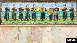 نقاشی بر دیوار کاخ گلستان، یکی از قدیمیترین بناهای به یادگار مانده از سلسله قاجاریه