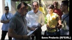 Predavanje inicijative Ustavnom sudu, Podgorica, 19., juni 2012.