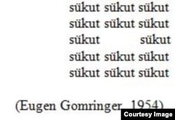 Eugen Gomringerin şeiri.