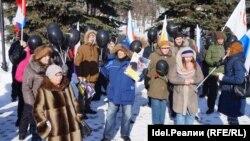 Митинг памяти Бориса Немцова в Казани. 25 февраля 2018 года