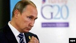 Уладзімір Пуцін на нядаўнім саміце G20 у Турцыі