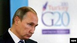 Ресей президенті Владимир Путин. Анталия, 16 қараша 2015 жыл.