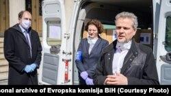 Šef Delegacije EU Johann Sattleri rezidentna predstavnica UNDP-a u BiHSteliana Nedera