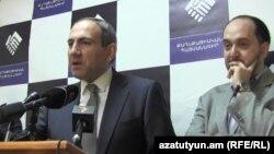 «Քաղաքացիական պայմանագիր» կուսակցության անդամների մամուլի ասուլիսը Երևանում, արխիվ
