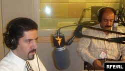 Kamiar and Arash Alaei at an RFE/RL studio