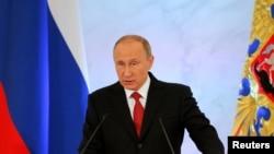 Суханронии Владимир Путин дар ҷаласаи муштараки порлумони Русия дар соли 2016