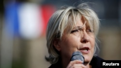French National Front leader Marine Le Pen (file photo)