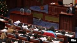 Архива: Премиерот Зоран Заев на седница во Собрание.