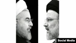 Президент Ирана Хасан Роухани (слева) и консервативный политик Эбрахим Раиси.