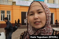 """Алтындан Байзакова, студентка исламского университета """"Нур""""."""
