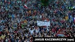 Акция протеста с требованием к президенту ветировать законопроекты по судебной реформе, Познань, 24 июля 2017 года
