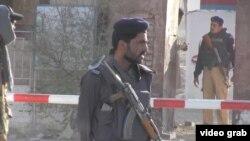 В пакистанском городе Кветта после усиления мер безопасности в связи с атакой на полицейскую академию. 25 октября 2016 года.