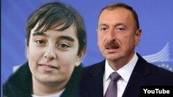 Pezident İlham Əliyev (arxada) və Heydər Əliyev