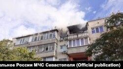 Последствия ЧП в жилом доме в Каче, 20 августа 2020 года