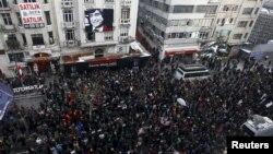 Թուրքիա - Հրանտ Դինքի սպանության 9-րդ տարելիցին նվիրված ցույցը Ստամբուլում, 19-ը հւնվարի, 2016թ․