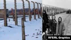 Комплекс лагерей Освенцим. 2015 и 1945