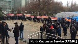 Одну из недавних протестных акций в Махачкале устроили жители села Артлух против главы Казбековского района Дагестана