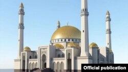 """Строящаяся мечеть """"Сердце Кавказа"""" в Магасе"""