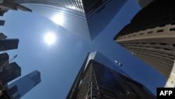 Новое здание, построенное на месте башен-близнецов Всемирного торгового центра.