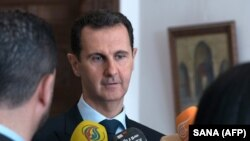 Башар Асад беседует с репортёрами в Дамаске. 4 марта 2018