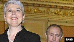 Jadranka Kosor i Vladimir Putin poslije sastanka u Moskvi