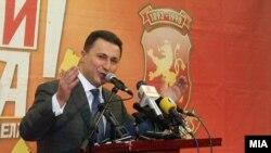 Премиерот Никола Груевски прогласи изборна победа на Локалните избори 2013.