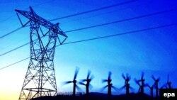АҚШ-тағы жоғары кернеулі электр желісі. Палм-Спрингс, Калифорния штаты.