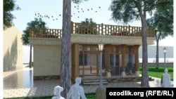 Так будет выглядеть здание кафе, которое планируют построить в Бухаре.