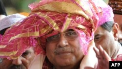 Pakistan's President Asif Ali Zardari on a recent visit to India