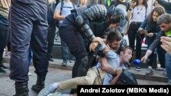 Акция протеста в Москве, 4 июля, 2019