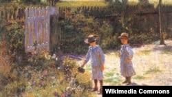Уладзіслаў Падкавіньскі, «Дзеці ў садзе» (1892)