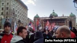 Na dan izricanja presude Karadžiću u centru Beograda skup podrške Vojislavu Šešelju, 24. mart 2016.