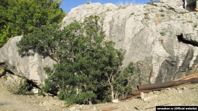Памятник археологии, мезолитическая стоянка «Ласпи-7», засыпан грунтом