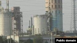 Завод «Навоиазот» после взрыва в июле 2013 года.