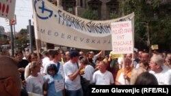 Radnici Goše na jednom od posljednjih protesta