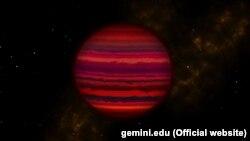 تصویری تخیلی از کوتوله قهوهای WISE 0855