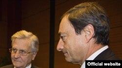 Жан-Клод Тріше (ліворуч) і Маріо Драґі, фото 2009 року