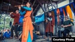 Выступ гурту «Стары Ольса» на Фэстывалі рэнесанснай музыкі ў Мінэсоце, ЗША, 2016