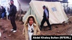 في مخيم دوميز في ضواحي دهوك