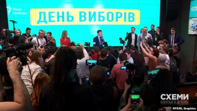 Штаб Зеленського в день першого туру виборів