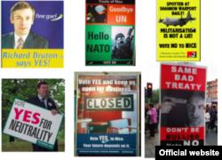 Фото плакатів під час референдуму в Ірландії у червні 2001 року